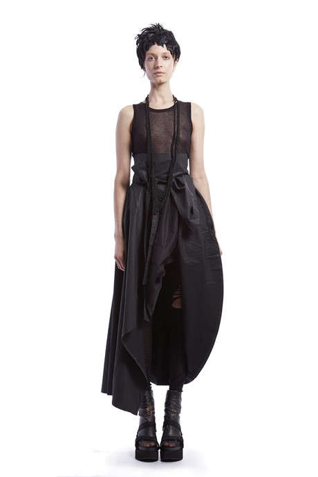 Leather coated maxi skirt - 623017
