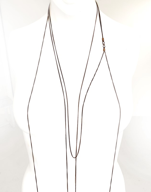 Metal Knitted necklace - 329630